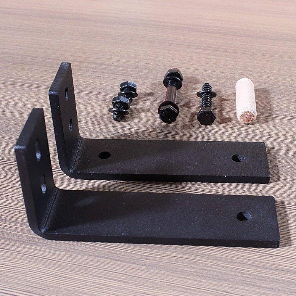 4 20 Ft Wood Sliding Barn Door Hardware Kit Rollers Track