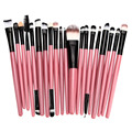 MAANGE 20Pcs pink Makeup Brushes Set Powder Blush Foundation Lip Eyebrow Eyeshadow Eyeliner contour Concealer Brush tools kit
