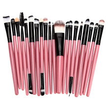 MAANGE 20Pcs pink Makeup Brushes Set Powder Blush Foundation Lip Eyebrow Eyeshadow Eyeliner contour Concealer Brush tools kit
