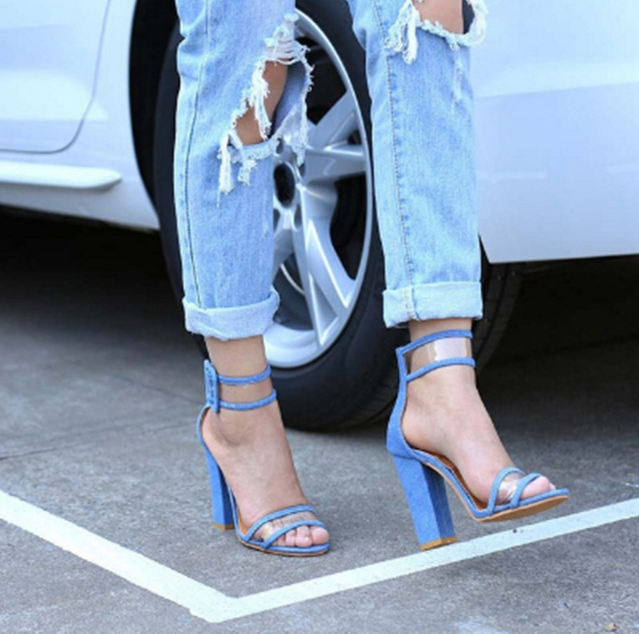 2019 New Fashion Clear High Heels Sandals Women Luxury Gladiator Open Toe Sandals Ladies Transparent Heels Sandles Pumps