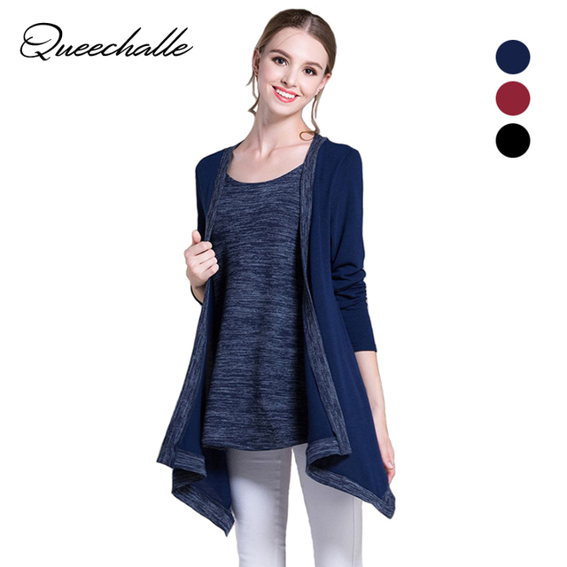cea02942c8 Queechalle Knitted Sweater 2018 Spring Autumn O Neck Long Sleeve Casual  Pullover for Women 3XL 4XL 5XL Plus Size Women Tops Blue