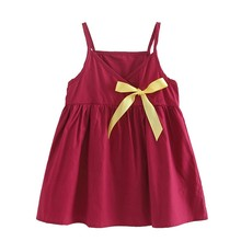 CuteSummer Girls Dress 2018 Brand Princess Dress Sleeveless Bow Floral Design for Girls Clothes Party Dress 3-6Y Clothes