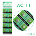 WX Botão Bateria de Relógio Bateria 10x1.55 V Botão de Célula tipo Moeda Baterias AG11 LR47 SR721SW LR721 V362 EE6212 55