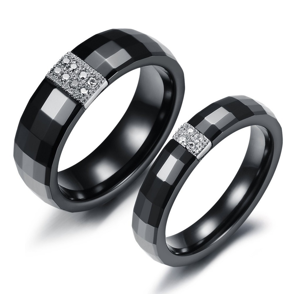 black wedding rings for him and her aliexpress com buy opk fine jewelry silver plated - Wedding Rings For Him