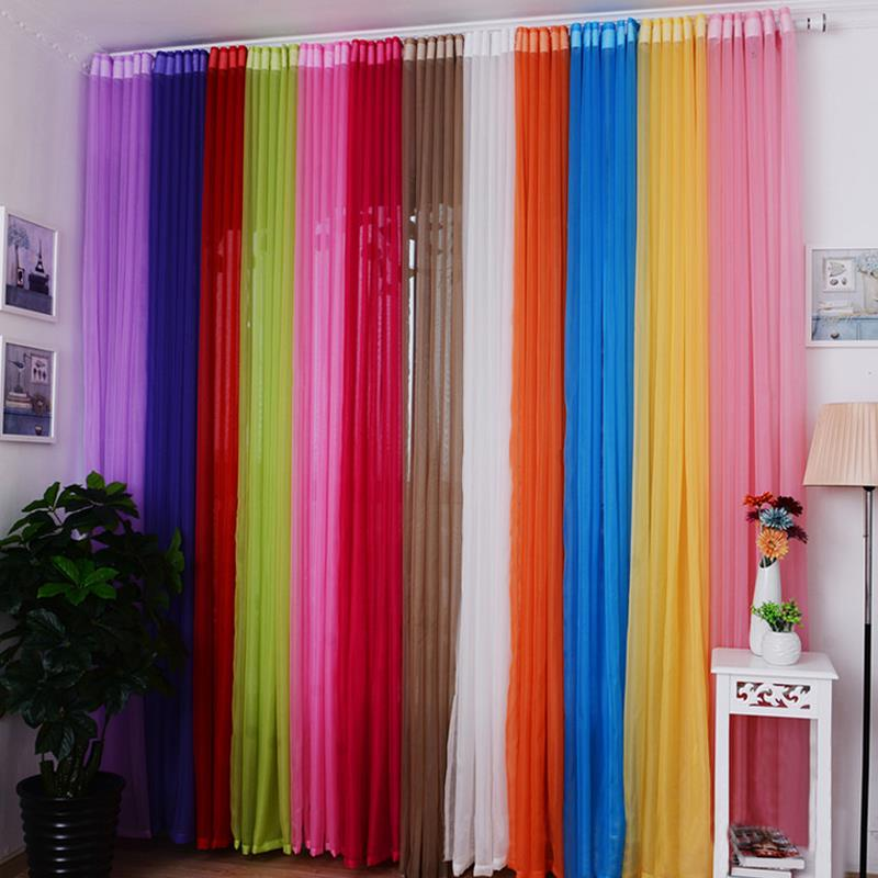 Fashion New Valances Colors Floral Tulle Voile Window Curtains Drape Panel Sheer Home Living Room Bedroom Windows Cheap Z1S2 ...