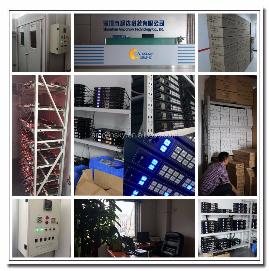 2016 best saler led video wall controller,video scaler switcher, with audio input and output for project led display AMS-LVP603V