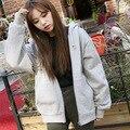 Spring Fashion women Bomber Basic Jacket Pocket Zipper hooded two side wear Cartoon print outwear loose plus size Coats