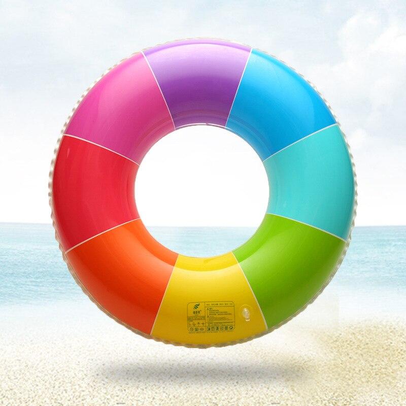 Piscina inflable círculo adulto engrosamiento y aumento de hombre y mujer arco iris de salvamento círculo anillo de natación