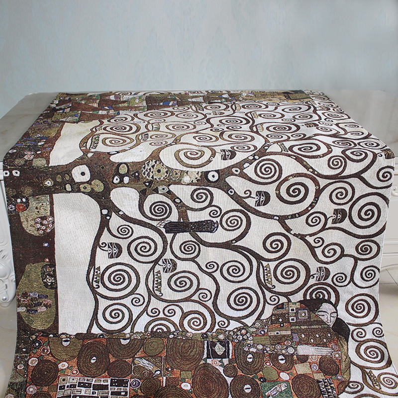 100x140 см 100% хлопок средневековый Zamioculcas искусство Европейское украшение для дома бельгийский гобелен настенный подвесной роскошный настенный Декор одеяло - 4