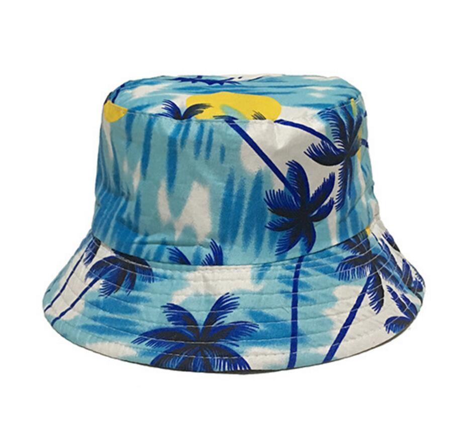 908f7457c2a MinanSer Women s Coconut Tree Printed Bucket Hats Women Reverse Harajuku  Vintage Bucket Cap Hawii Bucket