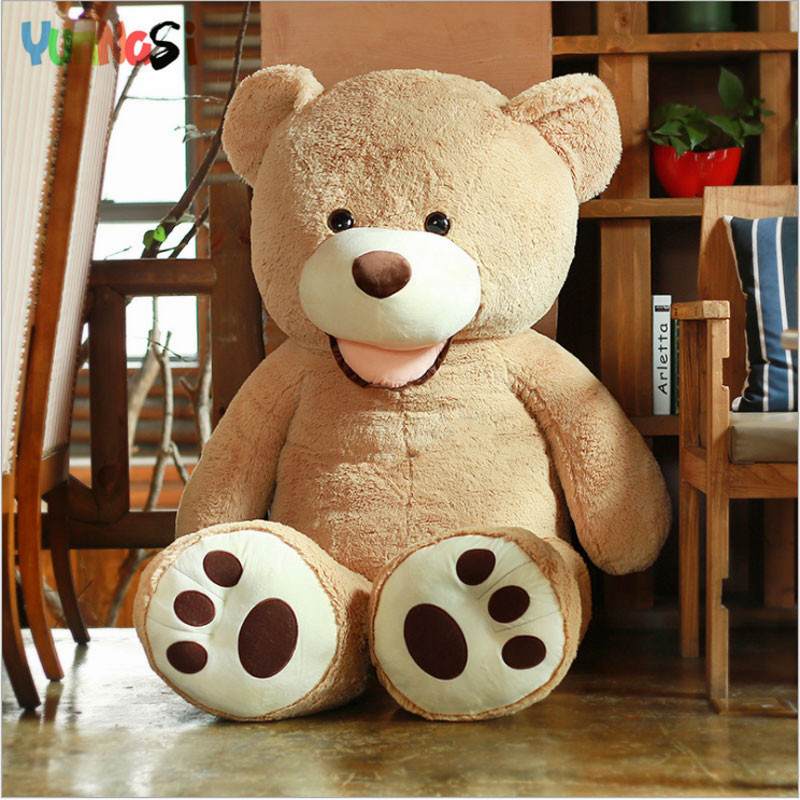 YunNasi Giant Teddy Bear American 100cm Plush Toys Stuffed Doll Squishy Toys Kids Huge Bear Pillow Birthday Gifts For Girlfriend 2018 huge giant plush bed kawaii bear pillow stuffed monkey frog toys frog peluche gigante peluches de animales gigantes 50t0424