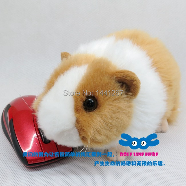 Super Lovely Simulation Pet Hamster Mice Cute Animal Plush Toy Guinea Pig Doll Ornaments Cavia Porcellus ysdx 811 video version mimicry pet talking hamster plush toy for kids grey light yellow pink