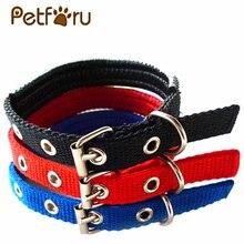 Petforu Dual Layer Super Pet Collar Comfort Foam Cotton Nylon Strap Cat puppy Dogs Collars arnes perro cachorro