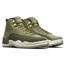 Jordan Retro 12 Gym red Basketball shoes Bulls Michigan University blue College ovo white Dark Grey men Sport Sneakers Green