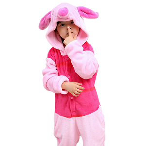 Image 2 - Nouveaux enfants garçons filles kigurumi Pyjamas ensemble Animal pégase cochon lapin Pyjamas pour enfants vêtements de nuit en flanelle Onesie hiver à capuche
