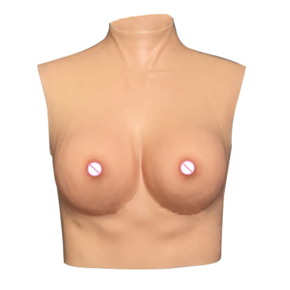 Breast Forms Transgender False Breasts Drag Queen Fake Silicone Breast Fake Boobs Artificial Breast Size L Skin Color D Cup urban forms