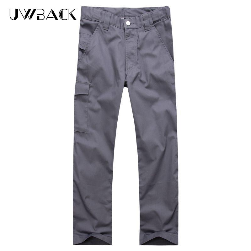 Uwback verano pantalones casuales hombres transpirable pantalones de - Ropa de hombre