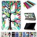 Новый Цветной рисунок Tab P580 Кожа фолио стенд Чехол для Samsung Galaxy Tab A A6 10.1 P580 P585 2016 Tablet PC + Pen + Film