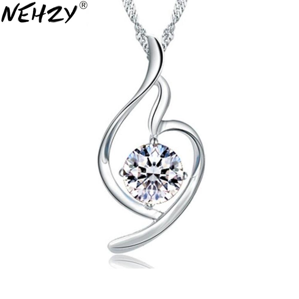 113b341ce570 Nehzy plata suave colgante modelos femeninos salvaje joyería de moda retro  lindo cristal fábrica al por mayor Super flash