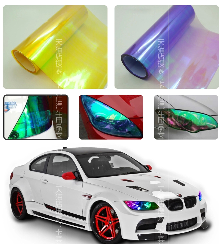 Image 2 - 0.3x9m(1x30ft) Neo chrome Chameleon Headlight  Tint/ Taillight / Fog Light Vinyl Tint Film Car Sticker Multi Color Whole Sale-in Car Stickers from Automobiles & Motorcycles