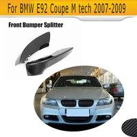 Bumper Carbon Fiber Front Bumper Lip Splitter For BMW E92 M tech M sport 2005 2009