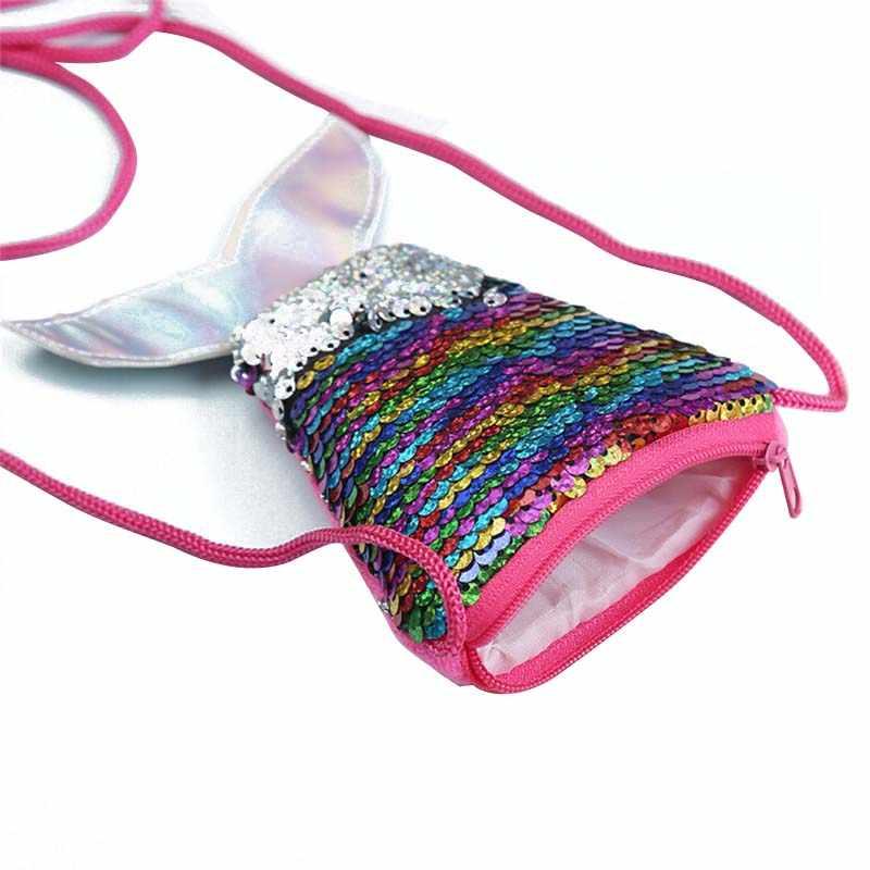 Mini carteras de mujer bolso bandolera pequeño bolso de cadena larga de moda para niñas Cartera de dinero para niños