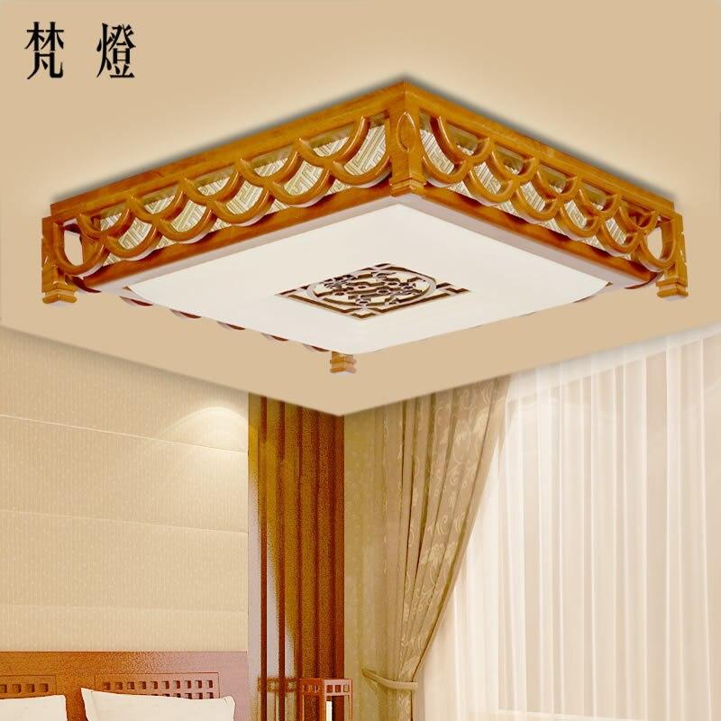 Aliexpress.com: comprar techo chino grande de madera cuadrada led ...