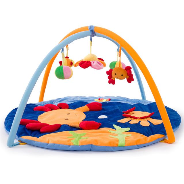 Novo Design Pequeno Caranguejo Azul Tapetes de Jogo Do Bebê Macio Do Bebê crianças Educacional Toy Play Atividade Ginásio Rastejando Cobertor Esportes Indoor almofadas