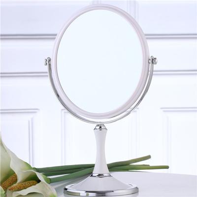 8 pulgadas de moda de alta definición espejo de maquillaje escritorio/2-cara de metal baño espejo de aumento 3X/360 giratoria Navidad regalo