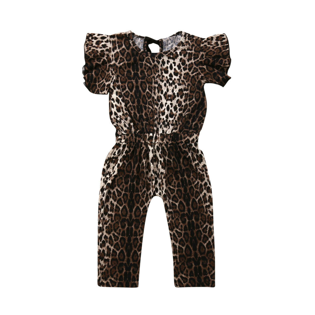 Girls' Baby Clothing Smart 1-5y Fashion Toddler Kids Baby Girl Ruffles Sleeveless Leopard Long Romper Jumpsuit One Pieces Outfits Girls Clothe Mother & Kids