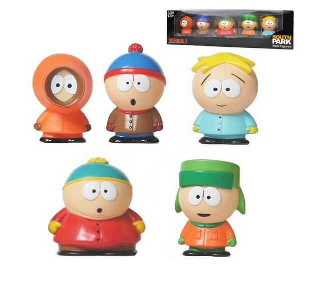2017 New ! <font><b>5</b></font> pcs/set Anime <font><b>South</b></font> <font><b>Park</b></font> Stan Kyle Eric Kenny Leopard Mini 5cm <font><b>PVC</b></font> <font><b>Action</b></font> <font><b>Figures</b></font> Collectible Models Toy Kids Gifts