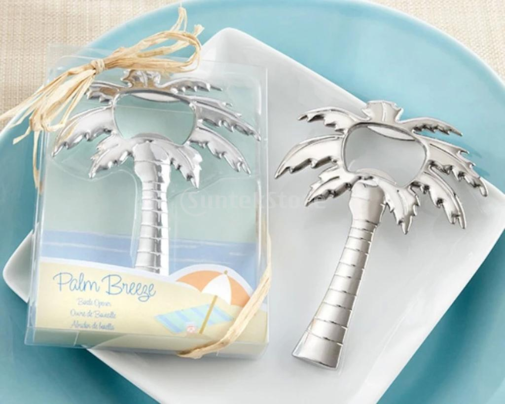 Alloy Coconut Palm Tree Bottle Opener Wedding Favor Beach Bridal ...