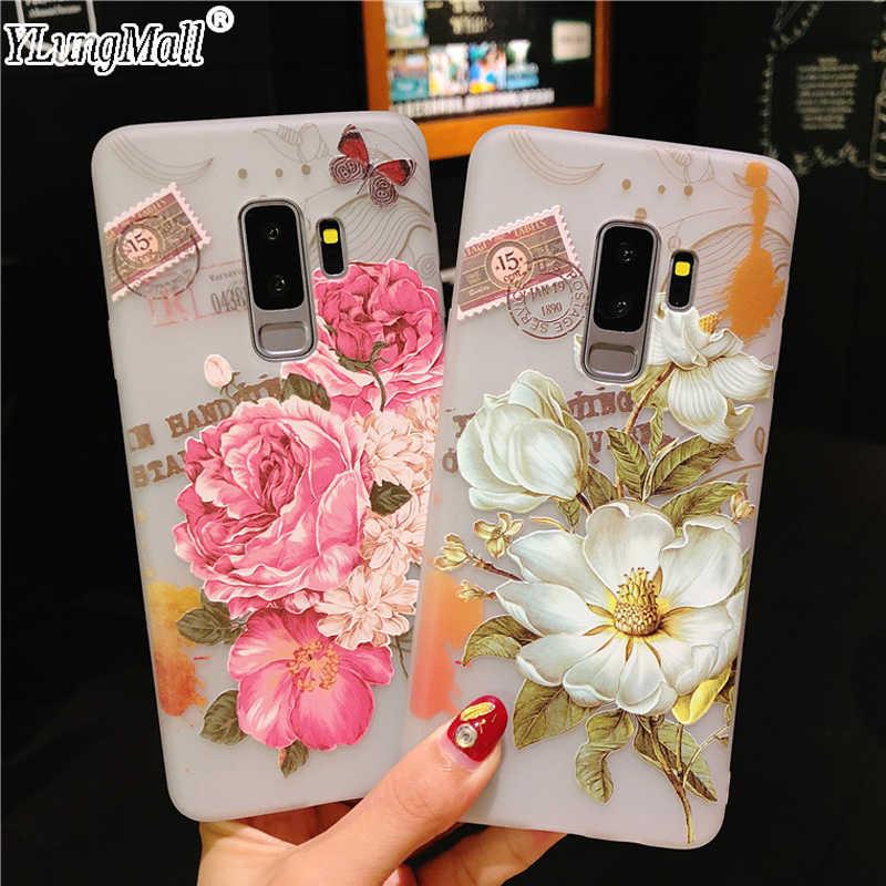 5a9b44efe5b Fundas Case for Samsung Galaxy S9 S8 Plus Flowers Michael Air Jordan Case  Soft Silicone TPU