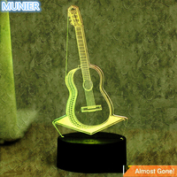 New Acrylic Light Guide Board 7 Color Guitar 3D Visual LED Night Lights For Kids Touch