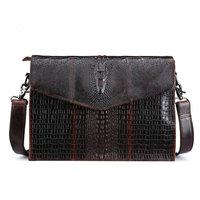 100 Genuine Leather The Crocodile Grain Fashion Brand Designer Bag Messenger Bags Casual Shoulder Designer Handbags