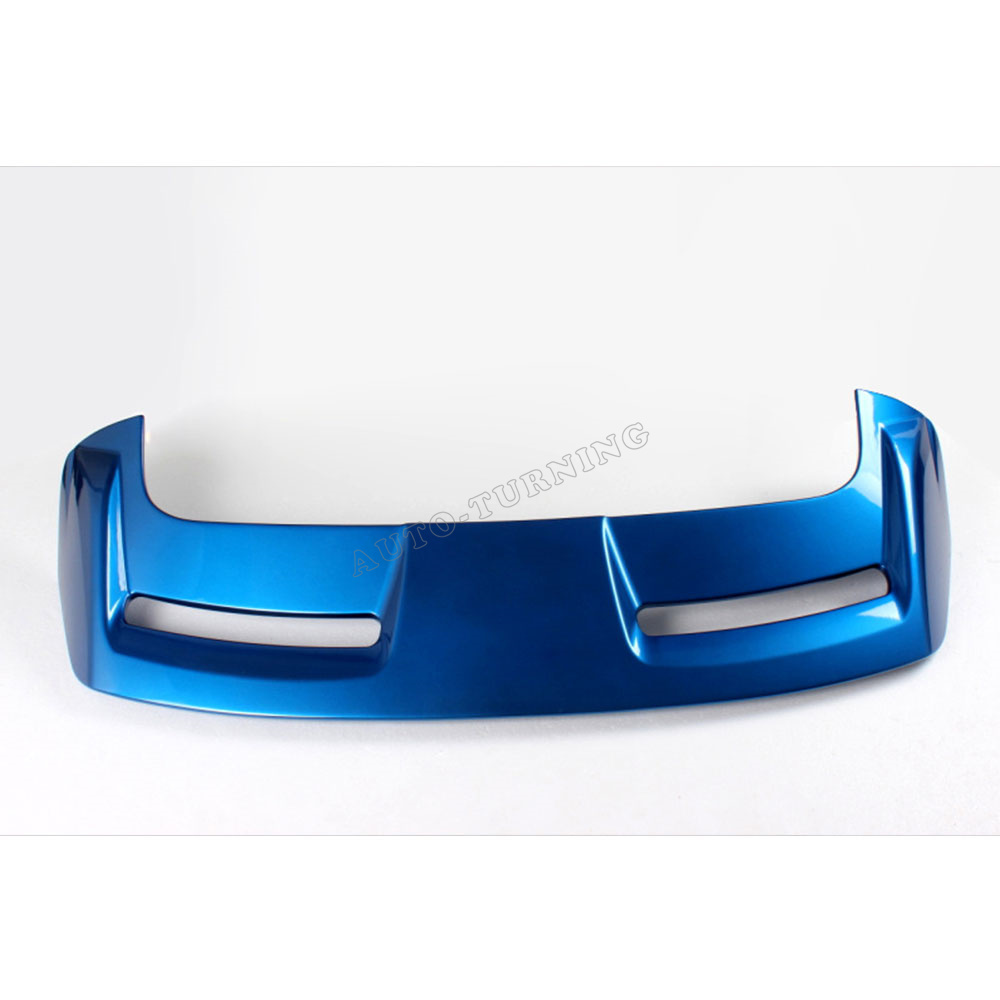 Car Style ABS Blue Painted Rear Trunk Lip Spoiler Car Rear Wing For Ford Focus Hatchback 12-13 paint abs car rear wing trunk lip spoiler for 16 17 toyota vios 2014 2015 2016 2017 by ems