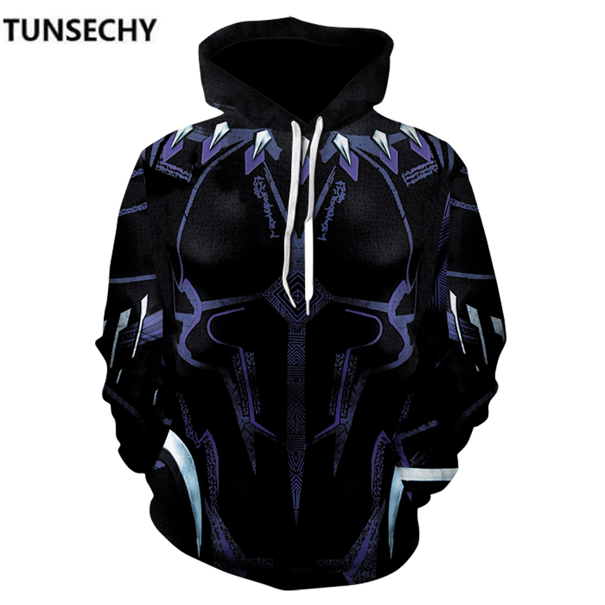 TUNSECHY Brand 2018 the avengers alliance 3 infinite war iron man panther spider-man many recreational Hoodies Sweatshirts