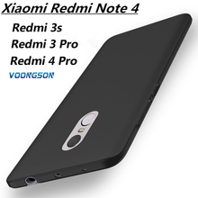 Luxury Hard Plastic Matte Case for Xiaomi Redmi note 4 Pro Cases pro 3s 3 s Full Cover