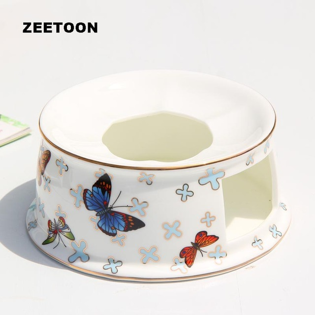 American Style Candle Warmer Warm Tea Stove Ceramic Bone China Candlestick Butterfly Pattern Base For Teapot Accessories Heater Teapot Trivets Aliexpress