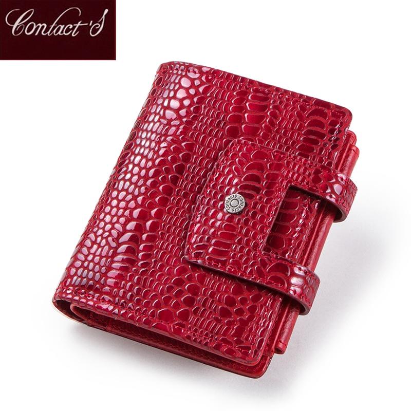 Genuine Leather Small Wallet Women Brand Designer Female Short Coin Purse Zipper Credit Card Holder Clutch Ladies Money Bag Hasp