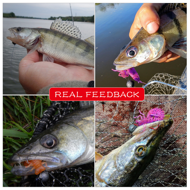 MEREDITH Larva Soft Lures 50mm 62mm 85mm Artificial Lures Fishing Worm Silicone Bass Pike Minnow Swimbait Jigging Plastic Baits 5