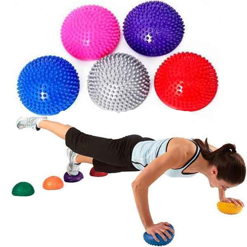 Yoga supplies Half Ball Physical Fitness Exercise trainers point massage stepping bosu balance board GYM YoGa Pilates for feet  yoga ball with feet | 20 Minute Yoga with a Stability Ball  font b Yoga b font supplies Half font b Ball b font Physical Fitness Exercise