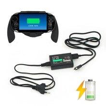 Штепсельная Вилка европейского стандарта для sony для PS Vita psv AC адаптер питания зарядное устройство+ USB кабель для передачи данных