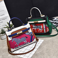 Women Bag Crossbody Shoulder Women Messenger Bags Paint Horse Bag Luxury Brand PU Leather Handbag Patchwork Bolsos with Lock