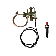 MENSI Commercial Gas Range Stove Spare Parts Fryer Pilot burner Flame Sensor Three flame Head assembly with Igniter 3Sets/lot