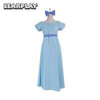 Peter Pan Wendy Dress Rachel Cosplay Costumes Anime PeterPan Party Blue Fancy Woman Dresses