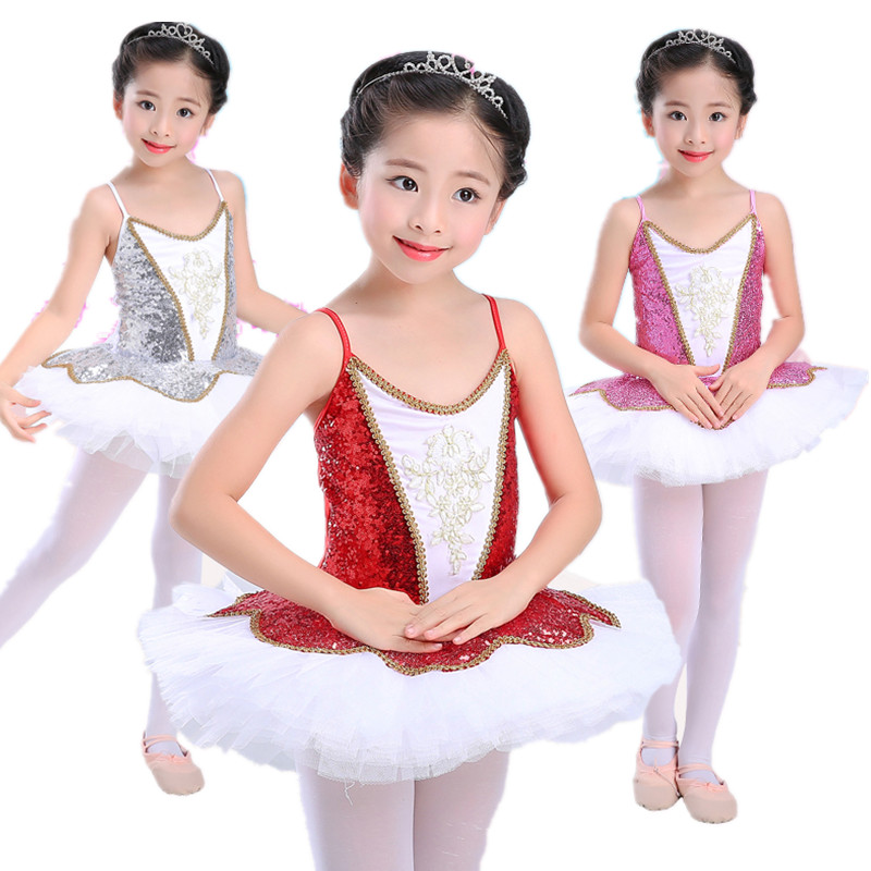 Professional Ballet Tutu Children Girls Sequined Ballerina Dress Ballet Clothes For Kids Women Costumes Ballerina Dancewear