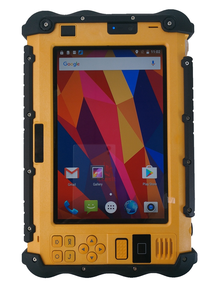 China P12 Rugged Android Tablet PC  Industrial Waterproof Shockproof UHF PTT Walkie Talkie Radio 7 Inch 3GB RAM Dual Sim GPS 4G