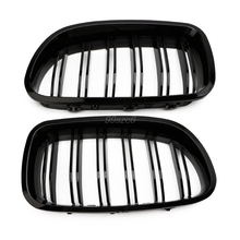 Gloss Black Kidney Grill Racing Grille Dual Line For BMW F10 F11 F18 5 Series M5 June DropShip