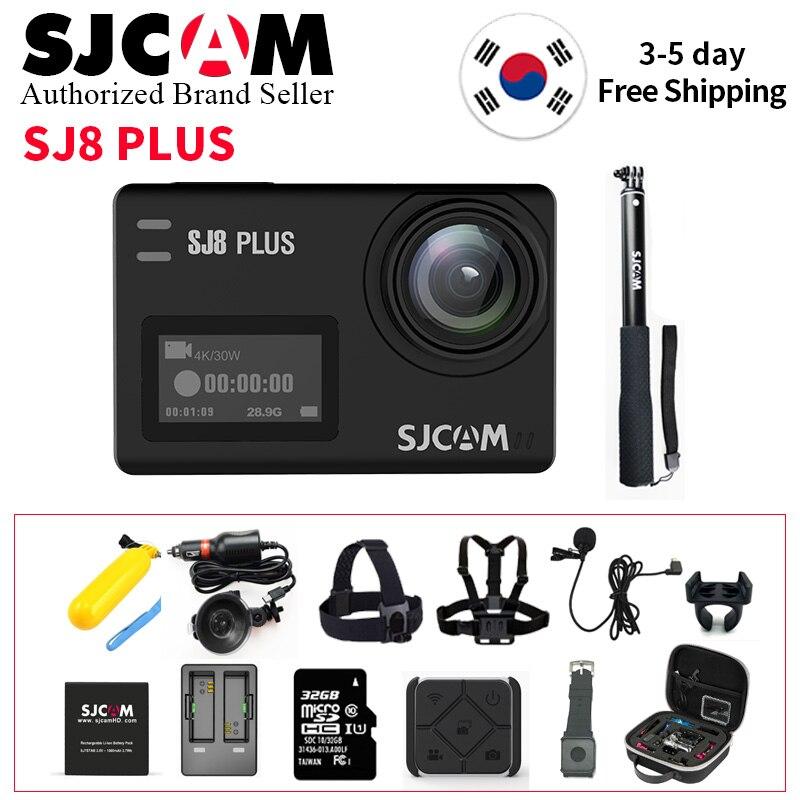 Pas cher SJCAM SJ8 Série SJ8 Plus 1290 P 4 K caméra d'action WIFI télécommandable imperméable à l'eau Sport DV (évantail complet Boîte)
